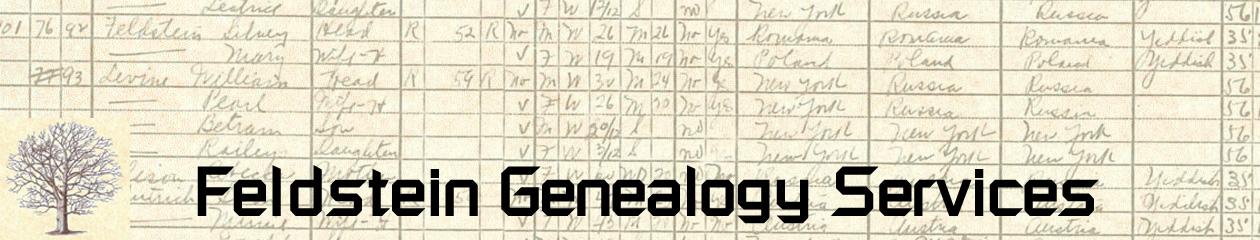 Feldstein Genealogy Services
