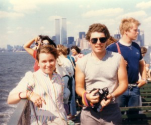 Me and Stephen on the ferry, 1985