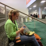 Lunch on the stairs with Elise Doerflinger