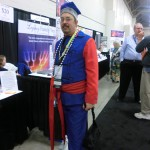 Tim Firkowski stood out in Polish garb