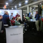 Archives.com had some crowds for their demos