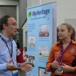 Elyse Doerflinger of WikiTree visits Daniel at MyHeritage