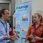 Elyse Doerflinger of WikiTree visits Daniel at MyHeritage