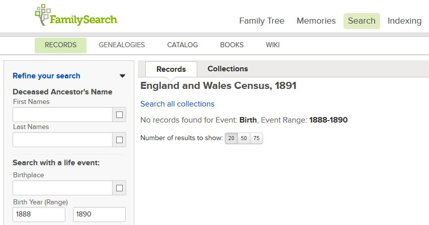 how to search genealogy in england
