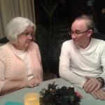 Pat Richley-Erickson and Daniel Horowitz at Myrtle's blogger dinner.