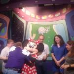 Minnie hugged everyone