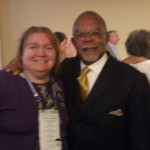 Blurry me and Henry Gates