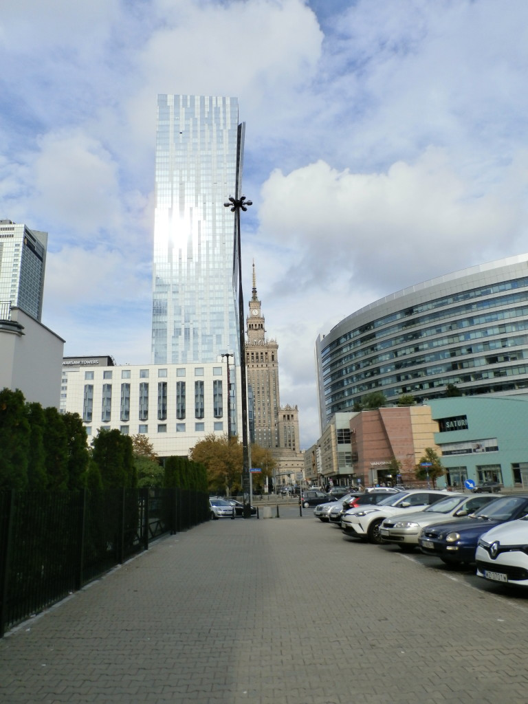 Palace of Culture and a modern skyscraper