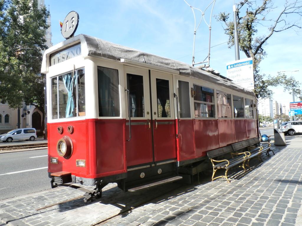 An old trolley car