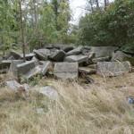 Piles of gravestones
