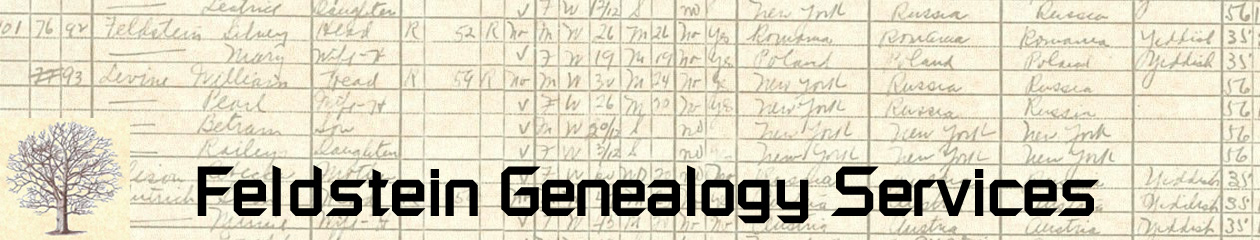 Feldstein Genealogy Services